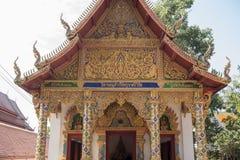 TEMPEL FÖR THAILAND PHAYAO WAT SI KHOM KHAN Royaltyfria Foton