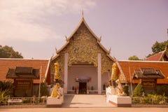 TEMPEL FÖR THAILAND PHAYAO WAT SI KHOM KHAN Fotografering för Bildbyråer