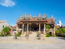 Tempel för traditionell kines i Penang, Malaysia royaltyfria bilder