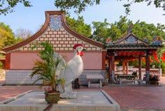Tempel för traditionell kines i Taiwan royaltyfri bild