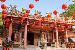 Tempel för traditionell kines i Taiwan arkivfoto