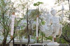 TEMPEL FÖR WAT RONG KHUN, CHIANGRAI Arkivfoto