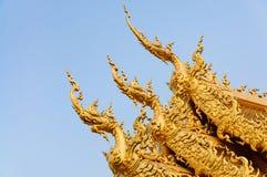 TEMPEL FÖR WAT RONG KHUN, CHIANGRAI Royaltyfri Fotografi