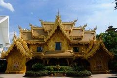 Tempel för Wat rongkhun i ChiangRai, Thailand Royaltyfria Foton