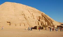 tempel för abuegypt simbel Arkivfoton