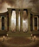 tempel för fantasi 3 Arkivfoton