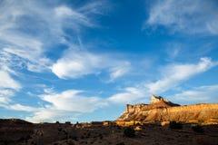 Tempel-Gebirgssonnenuntergang Stockfoto