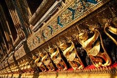 Tempel in groot paleis Bangkok Thailand stock foto