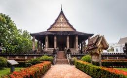 Tempel Hagedorn Phra Kaew, Vientiane, Laos Stockbild