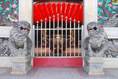 Tempel-Haupteingang der chinesischen Art. Lizenzfreies Stockbild
