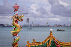 Tempel Hean Boo Thean Kuanyin Chinese Buddhist in Penang, Malaysia lizenzfreie stockfotos