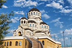 Tempel hergestellt nicht durch Handbild von Christus der Retter in Adler Lizenzfreie Stockbilder