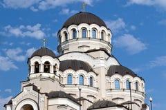 Tempel hergestellt nicht durch Handbild von Christus der Retter in Adler Lizenzfreies Stockbild