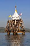 Tempel in het water Stock Afbeeldingen
