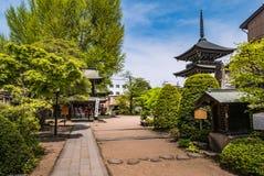 Tempel Hida Kokubunji, Takayama, Japan Stockbild