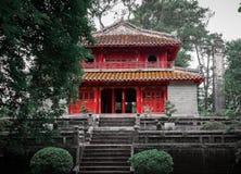 Tempel in Hue Vietnam Stock Foto's