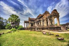 Tempel i Angkor Wat Arkivfoto