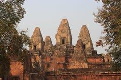 Tempel i Angkor Wat område arkivfoton