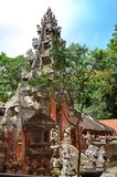 Tempel i apan Forest Ubad Bali Indonesia Arkivbild