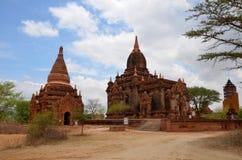 Tempel i Bagan Archaeological Zone på Myanmar Arkivbilder