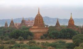Tempel i Bagan (Myanmar) Arkivbilder