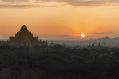 Tempel i Bagan, Myanmar (Burman) Arkivfoton