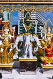 Tempel i Bangkok, Thailand. Arkivbilder