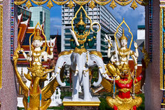 Tempel i Bangkok, Thailand. Royaltyfri Fotografi
