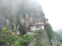 Tempel i Bhutan Arkivfoto
