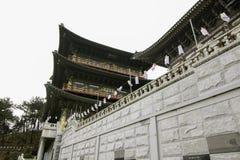 Tempel i busan Korea Arkivfoto