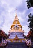 Tempel i Chaingmai Arkivfoton