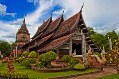 Tempel i Chiang Mai Arkivfoton