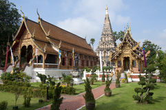 Tempel i Chiang Mai thailand Arkivfoto
