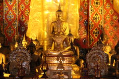 Tempel i Chiang Mai thailand Royaltyfria Foton
