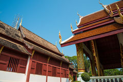 Tempel i Chiang Mai, Thailand Arkivbild