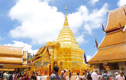 Tempel i Chiang Mai, Thailand Arkivfoto