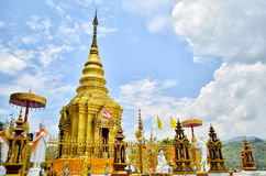 Tempel i Chiang Rai, Thailand Royaltyfri Foto