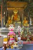Tempel i Chiang Saen, nordliga Thailand Arkivfoton