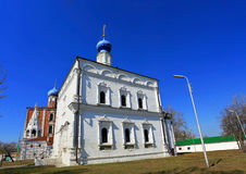 Tempel i den Ryazan Kreml Royaltyfri Bild
