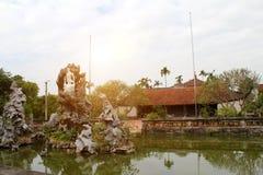 Tempel i den traditionella arkitektoniska stilen av öst, Hai D Arkivfoton