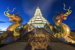 Tempel i det Chiang Rai landskapet, Thailand Arkivbilder