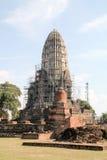 Tempel i gammal stad av Ayutthaya Royaltyfria Bilder