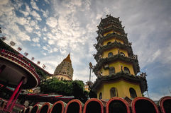Tempel i George Town, Penang, Malaysia Arkivbilder