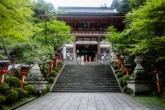 Tempel i Japan royaltyfria foton
