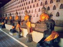 Tempel i Laos Vientiane Buddhareligion royaltyfria foton