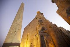 Tempel i Luxor, Egypten Royaltyfri Bild