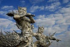 Tempel i nordliga Thailand Arkivfoto