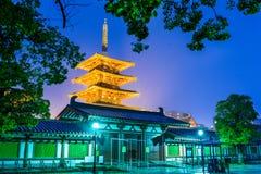 Tempel i Osaka Royaltyfri Fotografi