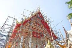 Tempel i renovering Royaltyfri Fotografi