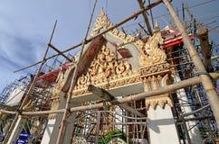 Tempel i renovering Arkivfoto